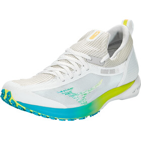 Mizuno Wave Duel 2 Shoes Women, nimbus cloud/safety yellow/scuba blue
